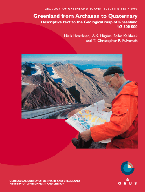 Geology of Greenland Survey Bulletin 185 cover